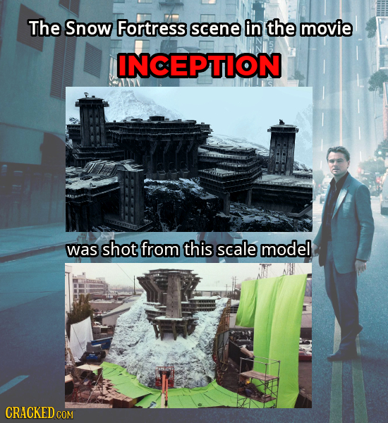 The Snow Fortress scene in the movie INCEPTION was shot from this scale model CRACKED COM