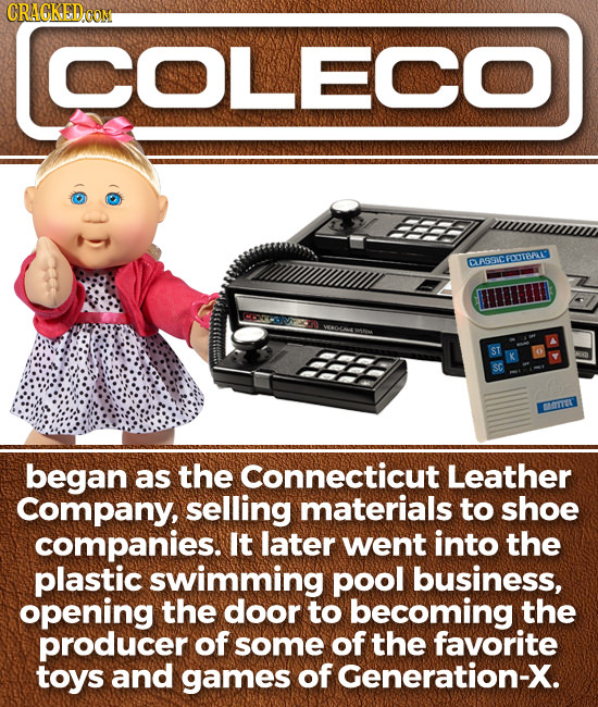CRAGKEDOON ICOLECO EEEE CASSACFOOTERAL HH began as the Connecticut Leather Company, selling materials to shoe companies. It later went into the plasti