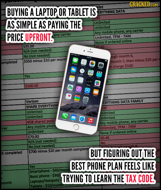 CRACKED COM BUYING A LAPTOP OR TABLET IS rint ERYTHING DATA AS SIMPLE AS PAYING THE Unlimited Unlimited mobile phone, any carrier PRICE UPFRONT. Any a