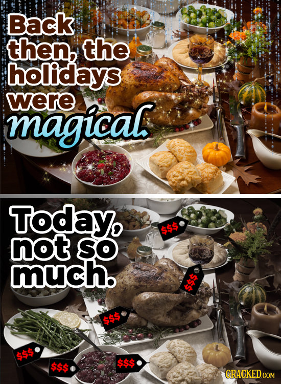 Back then, the holidays were magical Today, not SO much. $$$ $$$ $$$