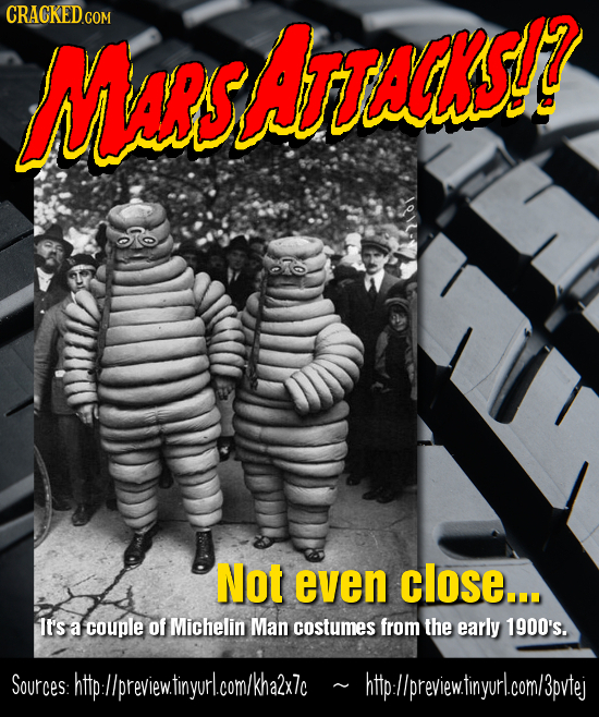 CRAGKED.COM MusArtsaks? Not even close... It's a couple of Michelin Man costumes from the early 1900's. Sources:http:llpreviewtinyurl.com/kha2x7c htp: