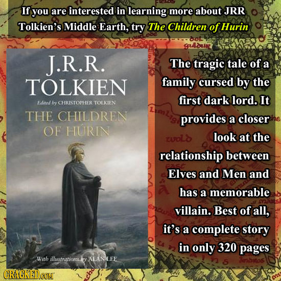 If you are interested in learning more about JRR Tolkien's Middle Earth, try The Children of Hurin Dol Sduln J.R.R. The tragic tale of a TOLKIEN famil