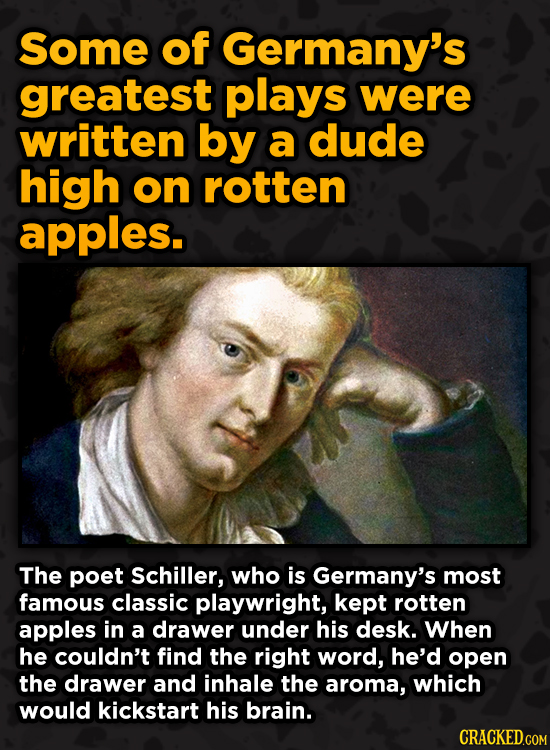 Bonkers Ways Famous Creators Made Iconic Works -Some of Germany's greatest plays were written by a dude high on rotten