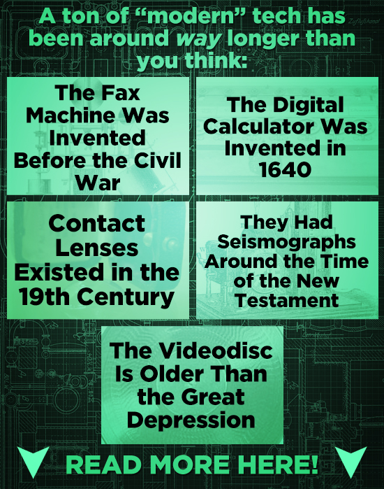 A ton of modern tech has been around way longer than you think: The Fax The Digital Machine Was Calculator Was Invented Invented in Before the Civil