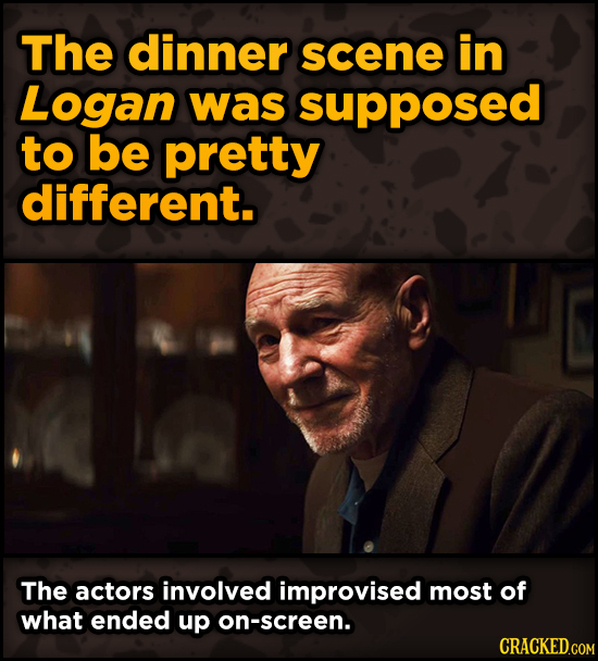 Movie Scenes That Were Supposed To Be Way Different - The dinner scene in Logan was supposed to be pretty different. The actors