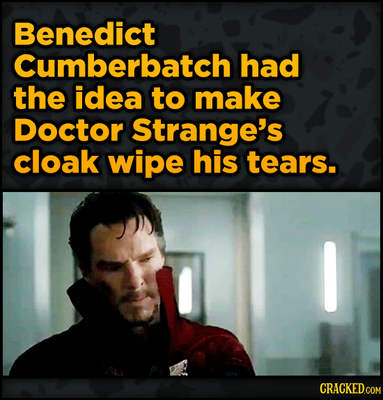 Movie Scenes That Were Supposed To Be Way Different - Benedict Cumberbatch had the idea to make Doctor Strange's cloak
