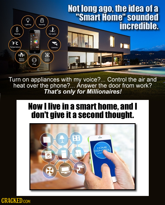 Not long ago, the idea of a Smart Home sounded 8 Lihtine Security incredible. Heatime Fc cmer CIY ' Turn on appliances with my voice?... Control the