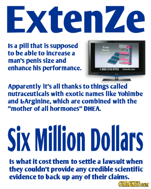 Extenze IS a pill that is supposed Free tsre to be able to increase Week a Supply man's penis size and enhance his performance. 1-800-216-9703 Apparen