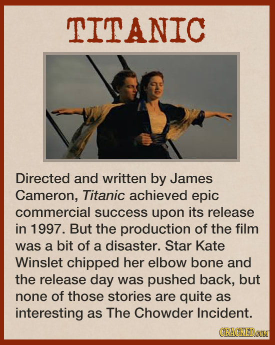 The Unsolved Mystery From The Set Of 'Titanic'
