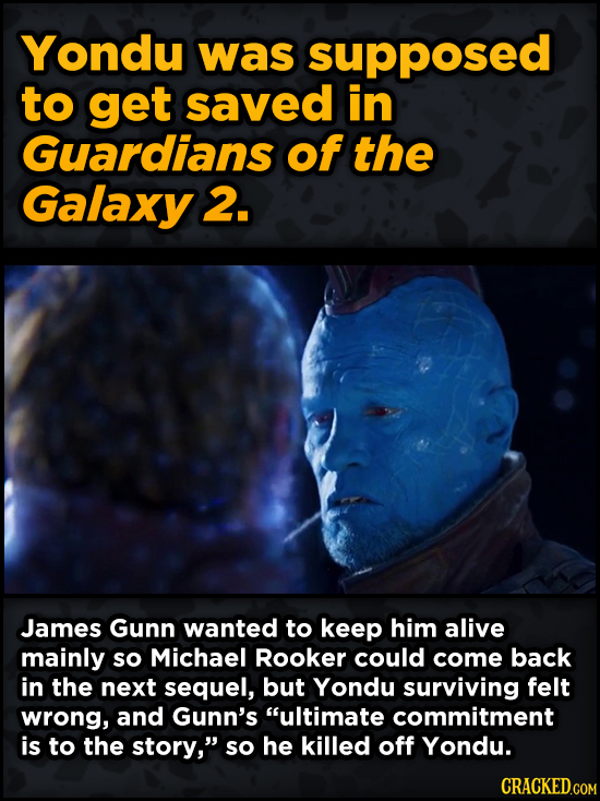 Movie Scenes That Were Supposed To Be Way Different - Yondu was supposed to get saved in Guardians of the