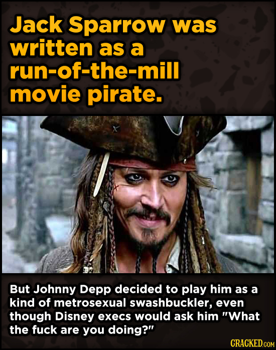 Movie Scenes That Were Supposed To Be Way Different - Jack Sparrow was written as a run-of-the-mill movie