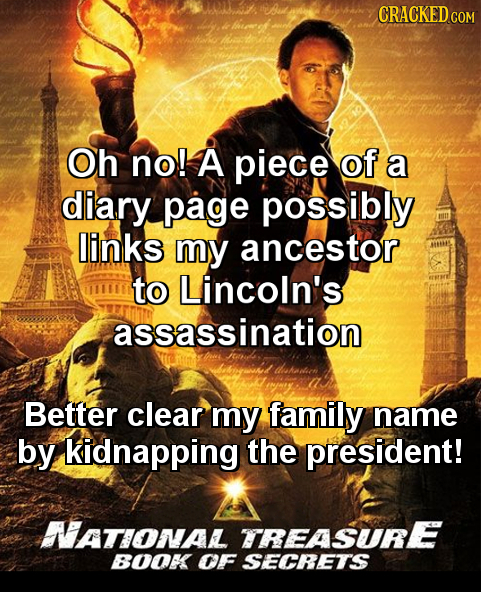 Uu Bu owek CRACKED c Oh no! A piece of a diary page possibly links my ancestor to Lincoln's assassination dskelich Better clear my family name by kidn