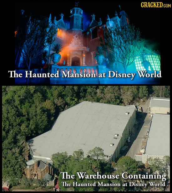 The Haunted Mansion at Disney World The Warehouse Containing The Haunted Mansion at Disney World
