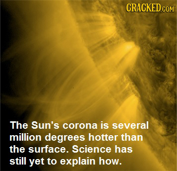 The Sun's corona is several million degrees hotter than the surface. Science has still yet to explain how.