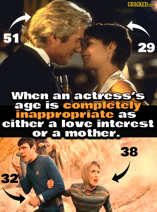 CRaCKED.con 51 29 When aan actress's ageiscompletely is as either a interest or a mother. 38 32