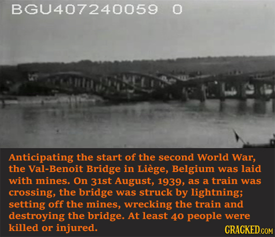 BGU407240059 O Anticipating the start of the second World War, the Val-Benoit Bridge in Liege, Belgium was laid with mines. On 31st August, 1939, as a