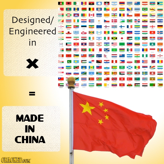 Designed/ Engineered in W Co o MADE IN CHINA CRACKEDCONT
