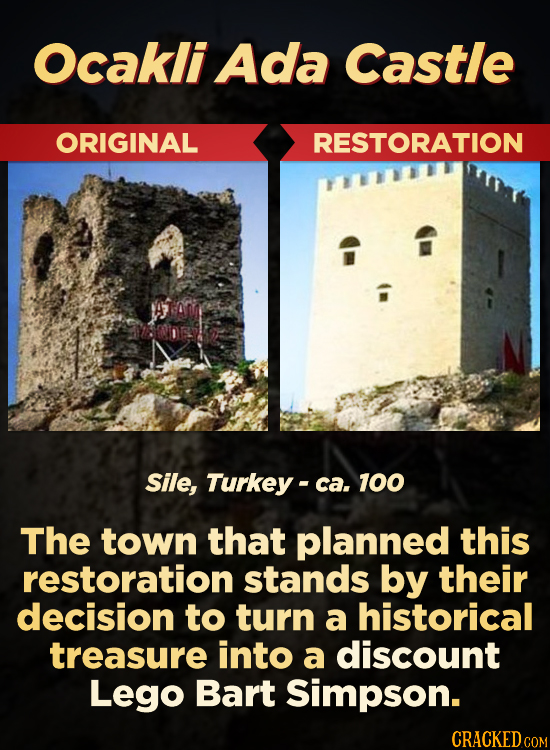 Ocakli Ada Castle ORIGINAL RESTORATION Sile, Turkey- ca. 100 The town that planned this restoration stands by their decision to turn a historical trea