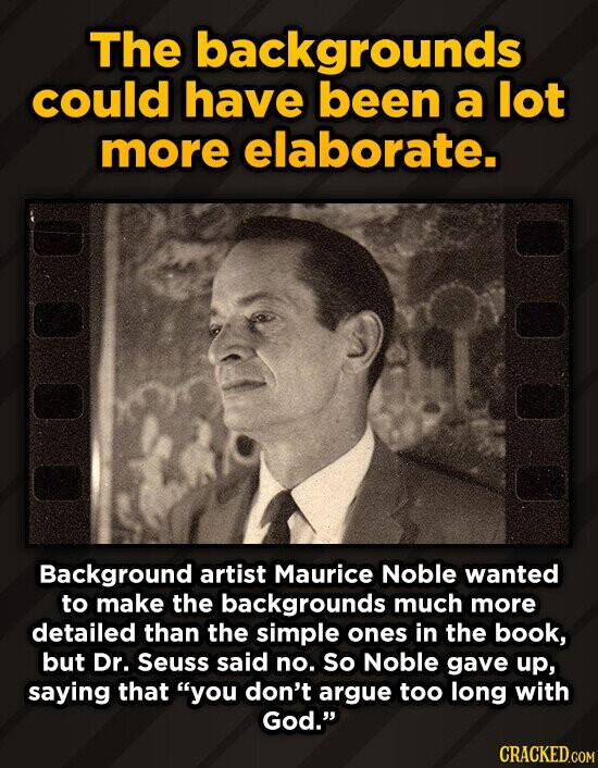The backgrounds could have been a lot more elaborate. Background artist Maurice Noble wanted to make the backgrounds much more detailed than the simpl