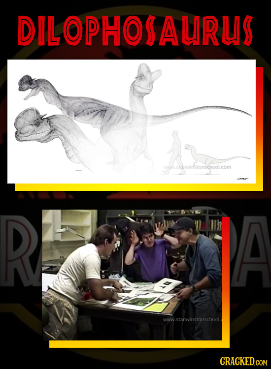 DILOPHOSAURUS A ww.sowirstonschool.com R A ww.stanwinstonschool.d CRACKED.COM