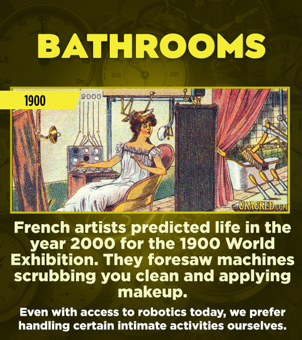 15 Really Inaccurate Predictions About The Future - French artists predicted life in the year 2000 for the 1900 World Exhibition. They foresaw machine