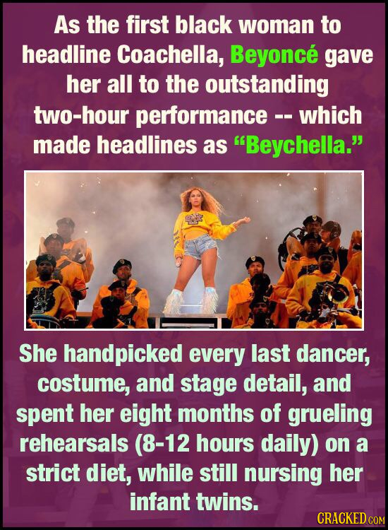 As the first black woman to headline Coachella, Beyonce gave her all to the outstanding two-hour performance- which made headlines as Beychella. She