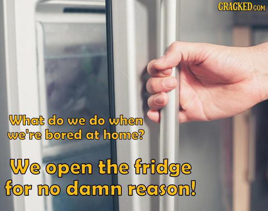 CRACKED CON COM What do we do when we're bored at home? We open the fridge for no damn reason!