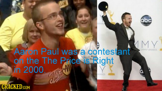 abc MY Aaron Paul was a contestant OMY ADE on the The Price is Right in 2000. Ados