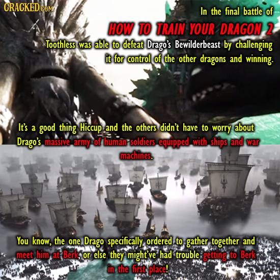CRACKEDCO COM In the final battle of HOW TO TRAIN YOUR DRAGON 2 Toothless was able to defeat Drago's Bewilderbeast by challenging it for control of th