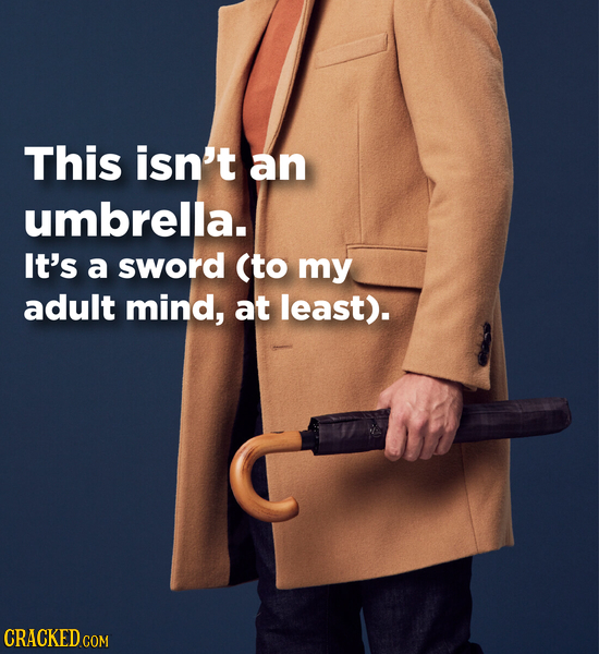 This isn't an umbrella. It's a sword (to my adult mind, at least).