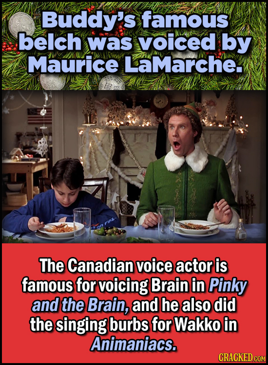 Son Of A Nutcracker Facts About The Christmas Classic Elf - Buddy's famous belch was voiced by Maurice LaMarche
