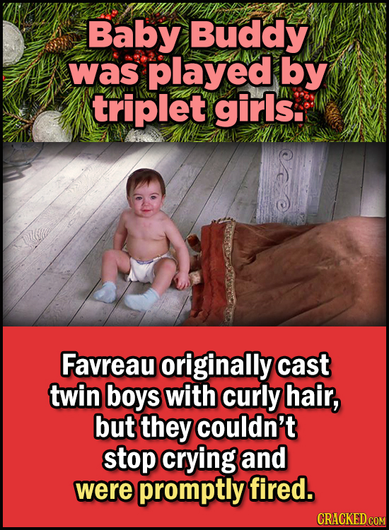 23 Son Of A Nutcracker Facts About The Christmas Classic Elf - Baby Buddy was played by triplet girls.