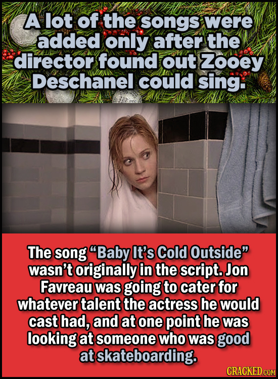 23 Son Of A Nutcracker Facts About The Christmas Classic Elf - A lot of the songs were added only after the director found out Zooey Deschanel could s