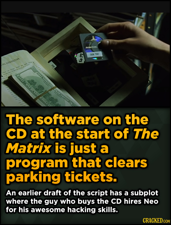 Surprising Revelations About Movies From The People Who Made Them - The software on the CD at the start of The Matrix