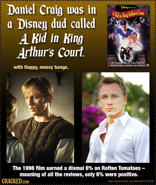 Daniel Craig was in Disnary PEUNTX Kidi Court King Artrur's a Disney dud called mo A Kid in King Arthur's Court. The Magic Tale OA Bov Whe Fell with f