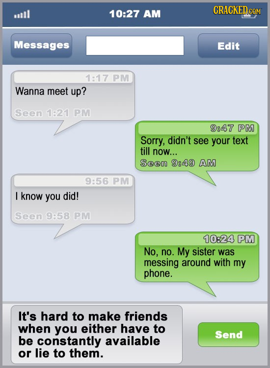 21 Reasons You're Having A Hard Time Making Friends
