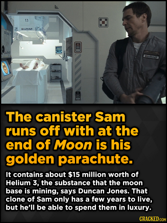 Surprising Revelations About Movies From The People Who Made Them - The canister Sam runs off with at the end of
