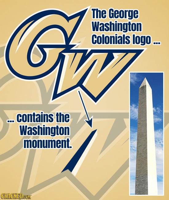 G The George O Washington IWI Colonials logo... ...contains the Washington monument. CRAGKEDCONT