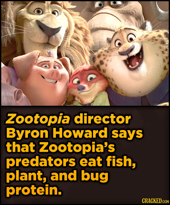 Surprising Revelations About Movies From The People Who Made Them - Zootopia director Byron Howard says that Zootopia's
