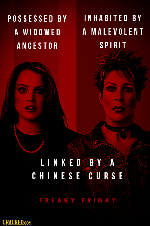 POSSESSED BY INHABITED BY A WIDOWED A MALEVOLENT ANCESTOR SPIRIT LINKED B.Y A CHINESE CURSE FREAKY FRIDAY CRACKED.COM