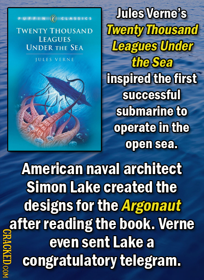 Jules Verne's PUFFIN 8 CLASSICS Twenty Thousand TWENTY THOUSAND LEAGUES Leagues Under UNDER THE SEA JULES VERNE the Sea inspired the first successful