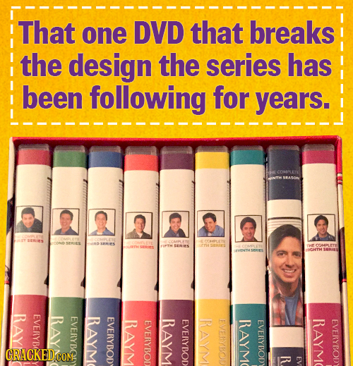 That one DVD that breaks the design the series has been following for years. SERIES SERJES LD SEMIES SRIRE COMMLETE 2ET TsE OVENTHSPPIES IOHTH SERIES