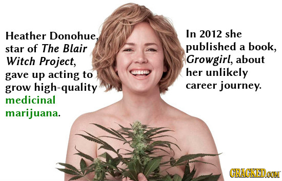 Heather Donohue, In 2012 she star of The Blair published a book, Witch Project, Growgirl, about her gave up acting to 666600 unlikely high-quality car