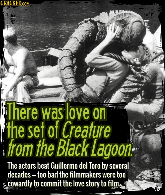 There was love on the set of Creature from the Black Lagoon. - The actors beat Guillermo del Toro by several decades -- too bad the filmmakers were to
