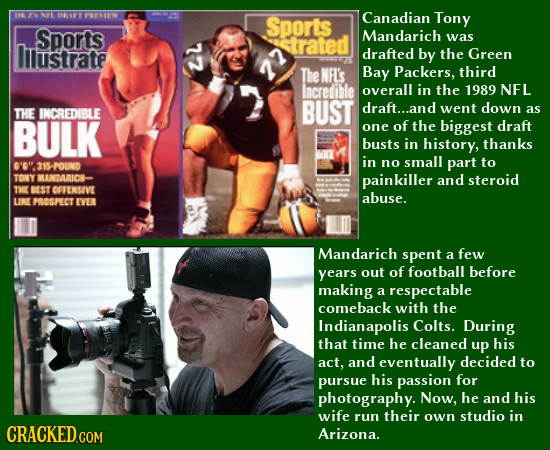 OR PTIW Sports Canadian Tony Sports lilustrate 72 trated Mandarich was drafted by the Green TheNFL's Bay Packers, third Incredible overall in the 1989