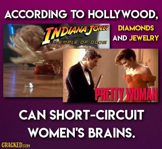 ACCORDING TO HOLLYWOOD, INDANA JONES DIAMONDS AND JEWELRY TEMPLE OF DODI PRETTY WOMAN CAN SHORT-CIRCUIT WOMEN'S BRAINS.