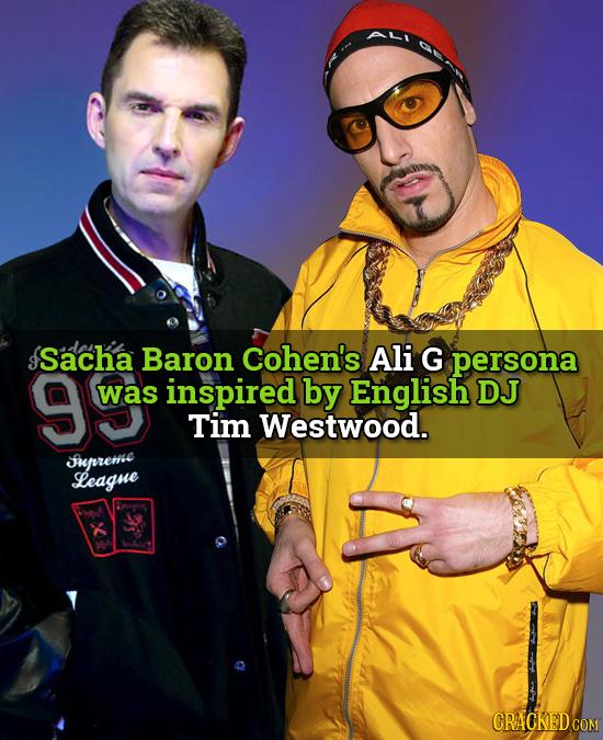 Sacha Baron Cohen's Ali G persona was inspired by English DJ Tim Westwood. Jurreme League CRACKED COM