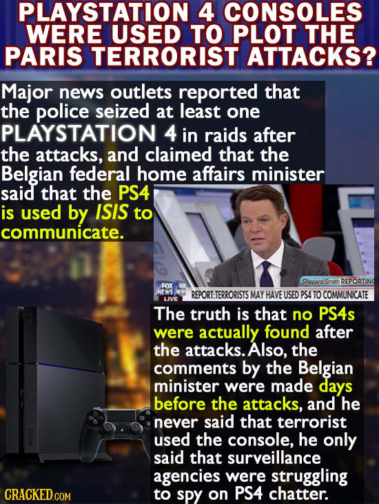 Stuff The Media Reports As True, Side By Side With The Truth