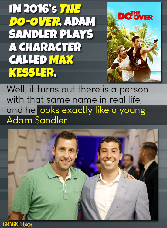 IN 2016's THE DOVER THE DO-OVER, ADAM OVER SANDLER PLAYS A CHARACTER CALLED MAX KESSLER. Well, it turns out there is a person with that same name in r