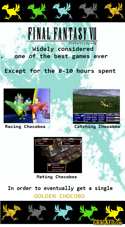 FINAL FANTASY VI 21tn77:- Widely considered one of the best games ever Except for the 8-10 hours spent Coad Cut 61 Marh Yuffie WMocStsoll D Baw Cid M.